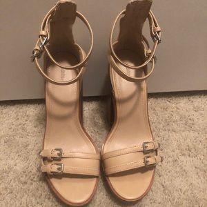 Zara Platform Nude Heel